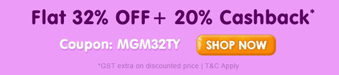 Flat 32% OFF & 20% Cashback* on Entire Toys Range