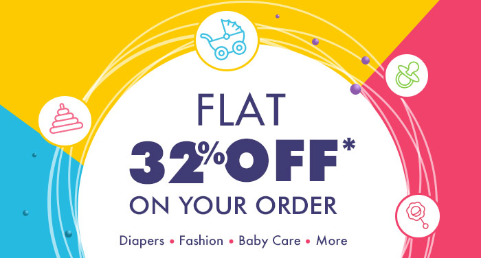 Flat 32% OFF* on Your Order