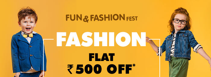 Flat Rs. 500 OFF* on Entire Fashion Range