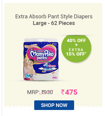 Extra Absorb Pant Style Diapers Large - 62 Pieces