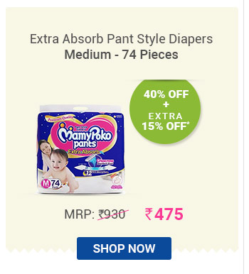 Extra Absorb Pant Style Diapers Medium - 74 Pieces