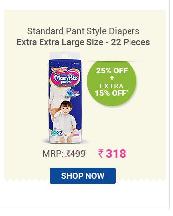 Extra Absorb Pant style Diaper Extra Extra Large Size - 22 Pieces