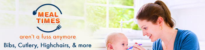 Mealtimes aren't a Fuss anymore Bibs,Cutlery, Highchairs,& more