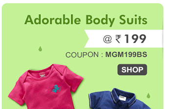Adorable Body Suits @ Rs. 199*