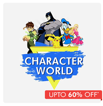 Character World - Upto 60% OFF*