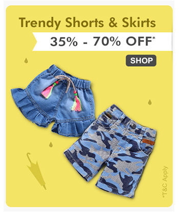 Trendy Shorts, Skirts & Jeans - 35% - 70% OFF*