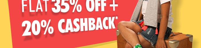 Flat 35% OFF & 20% Cashback* | Coupon: MGM35JL