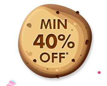 Min. 40% OFF*