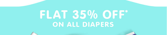 Flat 35% OFF* on All Diapers | Coupon: JL35FEST