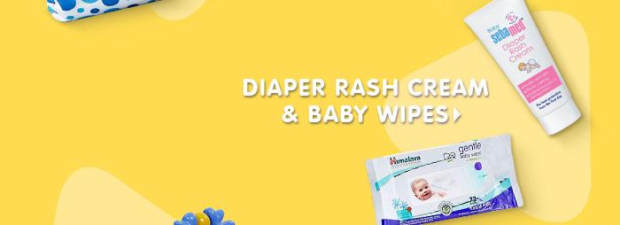 Diaper Rash Cream & Baby Wipes