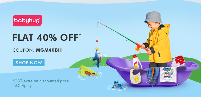 Flat 40% OFF* on Entire Babyhug Range  |  Coupon: MGM40BH