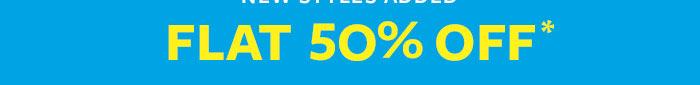 Flat 50% OFF*
