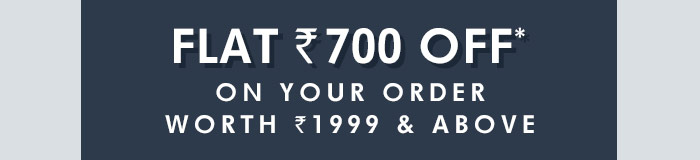 Flat Rs. 700 OFF* on Your order worth Rs. 1999 & above | Coupon: ODR700AG