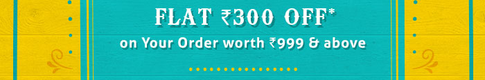 Flat Rs. 300 OFF* on Your Order worth Rs. 999 & above