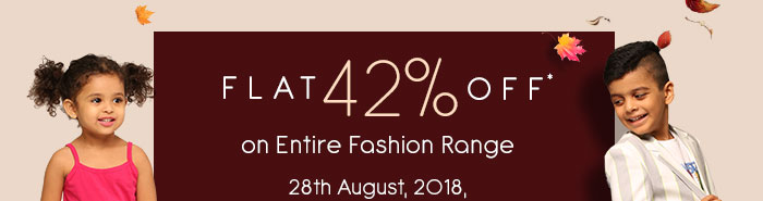 Flat 42% OFF* on Entire Fashion Range