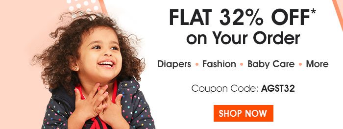 Flat 32% OFF* on Your Order | Coupon: AGST32
