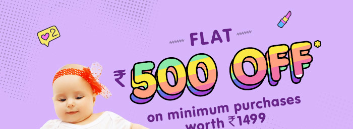 Flat Rs. 500 OFF* on minimum purchases worth Rs. 1499