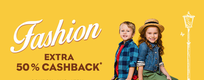 Extra 50% Cashback* on Entire Fashion Range