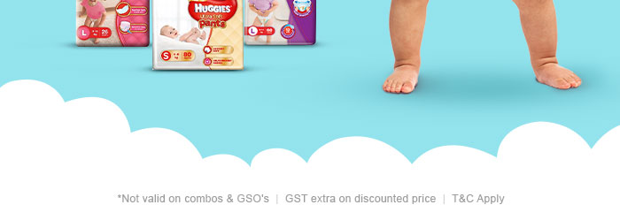 Flat 40% OFF* on Entire Huggies Range