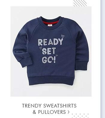 Trendy Sweatshirts & Pullovers