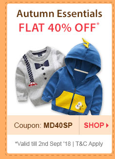 Flat 40% OFF* Autumn Essentials | Coupon: MD40SP