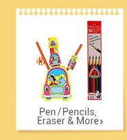 Pen/Pencils, Eraser & More