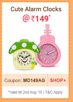 Cute Alarm Clocks @ Rs. 149* | Coupon: MD149JL