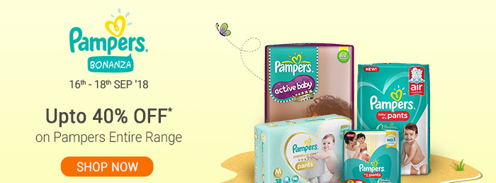 Upto 40% OFF* on Pampers Entire Range