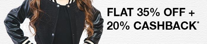 Flat 35% OFF & 25% Cashback*