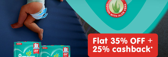 Flat 35% OFF & 25% Cashback* on Entire Range