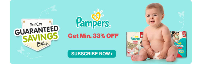 FirstCry Guaranteed Saving Offer Pampers - Get Min 33% OFF