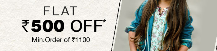 Flat Rs. 500 OFF*  Mini. order of  Rs. 1100