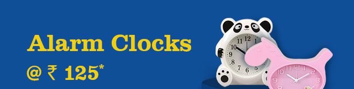 Alarm Clocks @ Rs. 125*