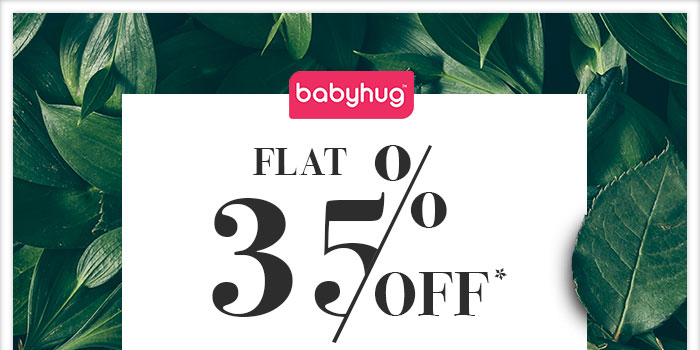 Flat 35% OFF* on Entire Babyhug Range  |  Coupon- SP35BHG