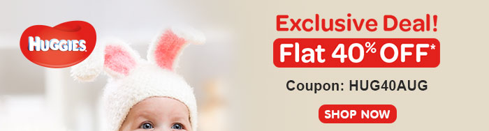 Huggies | Flat 40% OFF*