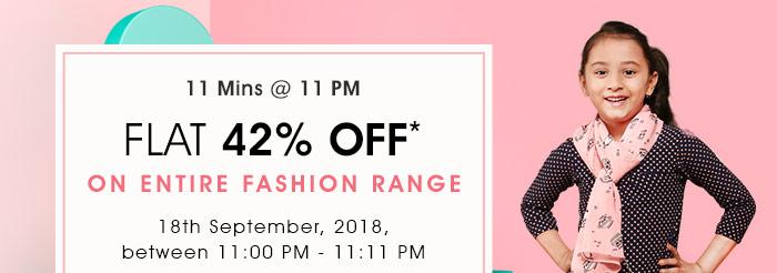 Flat 42% OFF* on Entire Fashion Range | COUPON: SEP42FSHN