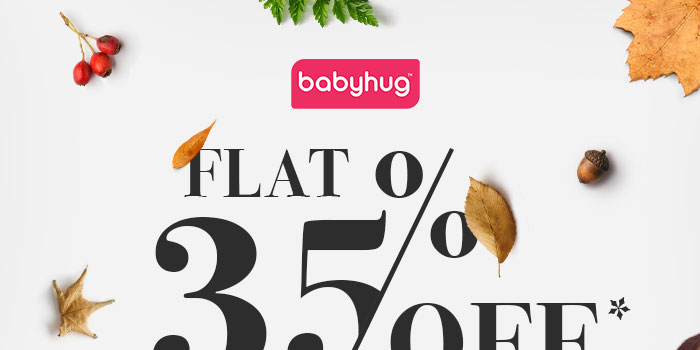 Flat 35% OFF* on Entire Babyhug Range  |  Coupon- BHG35SEPT