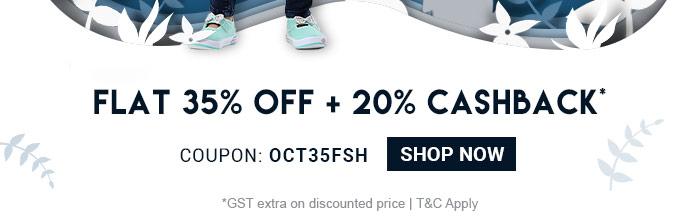 Flat 35% OFF & 20% Cashback* | Fashion