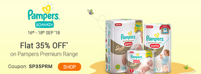 Flat 35% OFF* on Pampers Premium Range