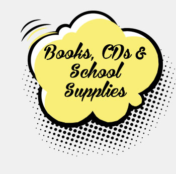 Books, CDs & School Supplies