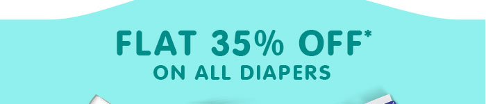 Flat 35% OFF* on All Diapers | Coupon: SEP35FEST