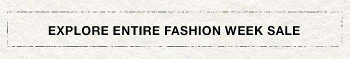 Explore Entire Fashion Week Sale