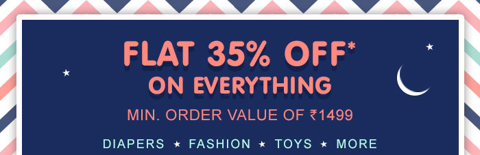 Flat 35% OFF* on Everything | COUPON: SEPT35