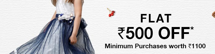 Flat Rs. 500 OFF*_Minimum Purchases worth Rs. 1100