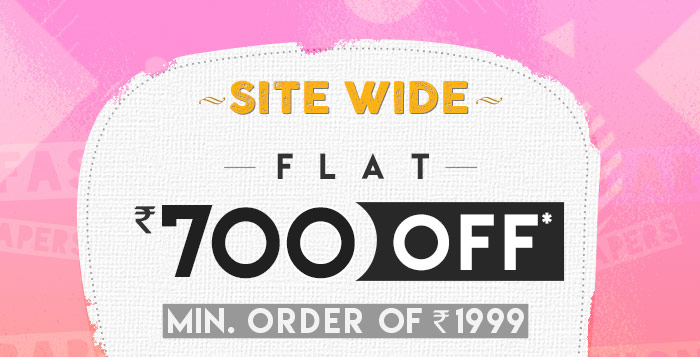 Flat Rs. 700 OFF* On Minimum Purchases of worth Rs. 1999