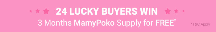 24 Lucky Buyers Win 3 Months MamyPoko Supply for FREE*