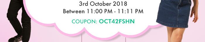 3rd October 2018, between 11:00 PM - 11:11 PM