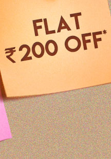 Flat Rs. 200 OFF*