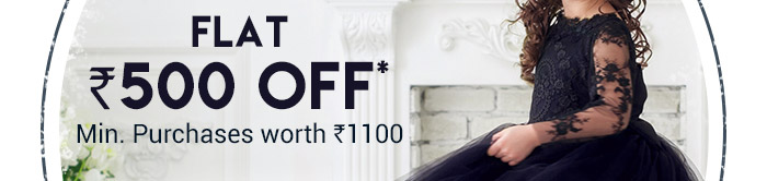 Flat Rs. 500 OFF* on Entire Fashion Range | Minimum Purchases worth Rs. 1100