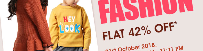 Flat 42% OFF* on Entire Fashion Range | COUPON: FSHN42